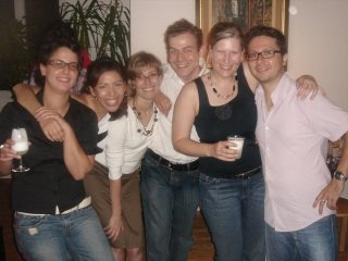Suzanne, Paola, Astrid, me, Tina and Juan at Tina's surprise party