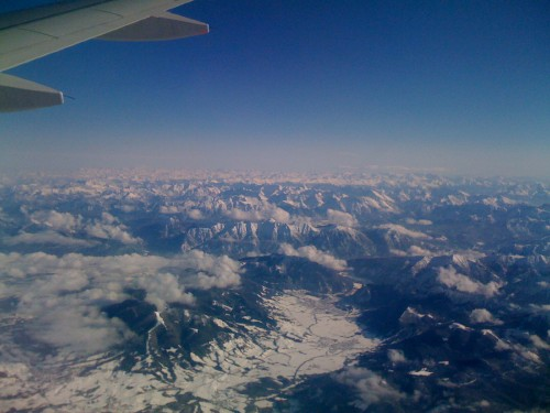 The Alps from above 20000 feet